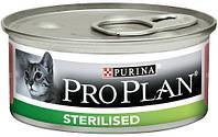 ProPlan Sterilised кусочки с лососем и тунцом в соусе для стерилизованных, 24 шт