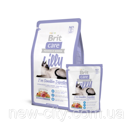 Сухой корм для котов 7кг Brit Care Cat Lilly I've Sensitive Digestion