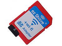 Переходник с микро SD карт в SD с передачей данных по Wi-Fi ezShare