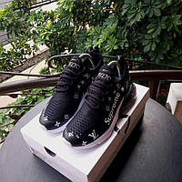 Женские кроссовки в стиле NIKE Air Max 270 Supreme X LV  Black черные
