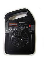 Радио RX 498 BT, Радио колонка MP3 блютуз, Приемник с  фонариком от солнечной батареи, Радиоприемник PowerBank, фото 1