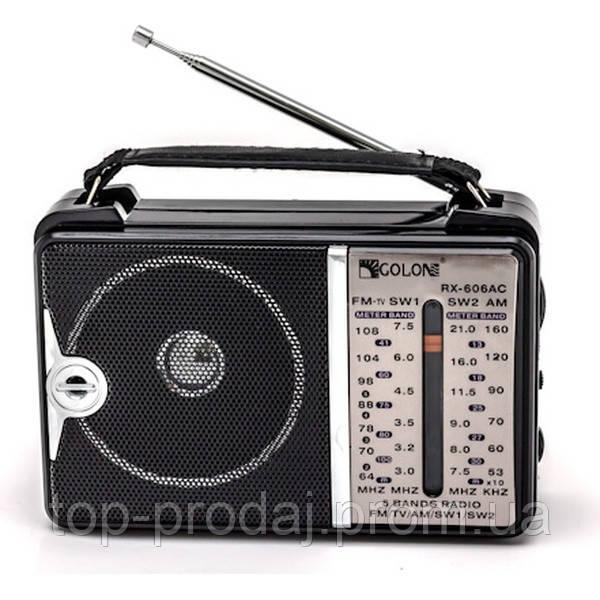Радио RX 606, Всеволновой радиоприёмник, 5-ти волновой радиоприемник, Радиоколонка, Радио портативное,Приемник