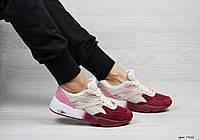 Женские спортивные кроссовки в стиле Puma Trinomic, бордовые с розовым