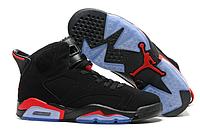 Мужские кроссовки Air Jordan Retro 6 Black/Red