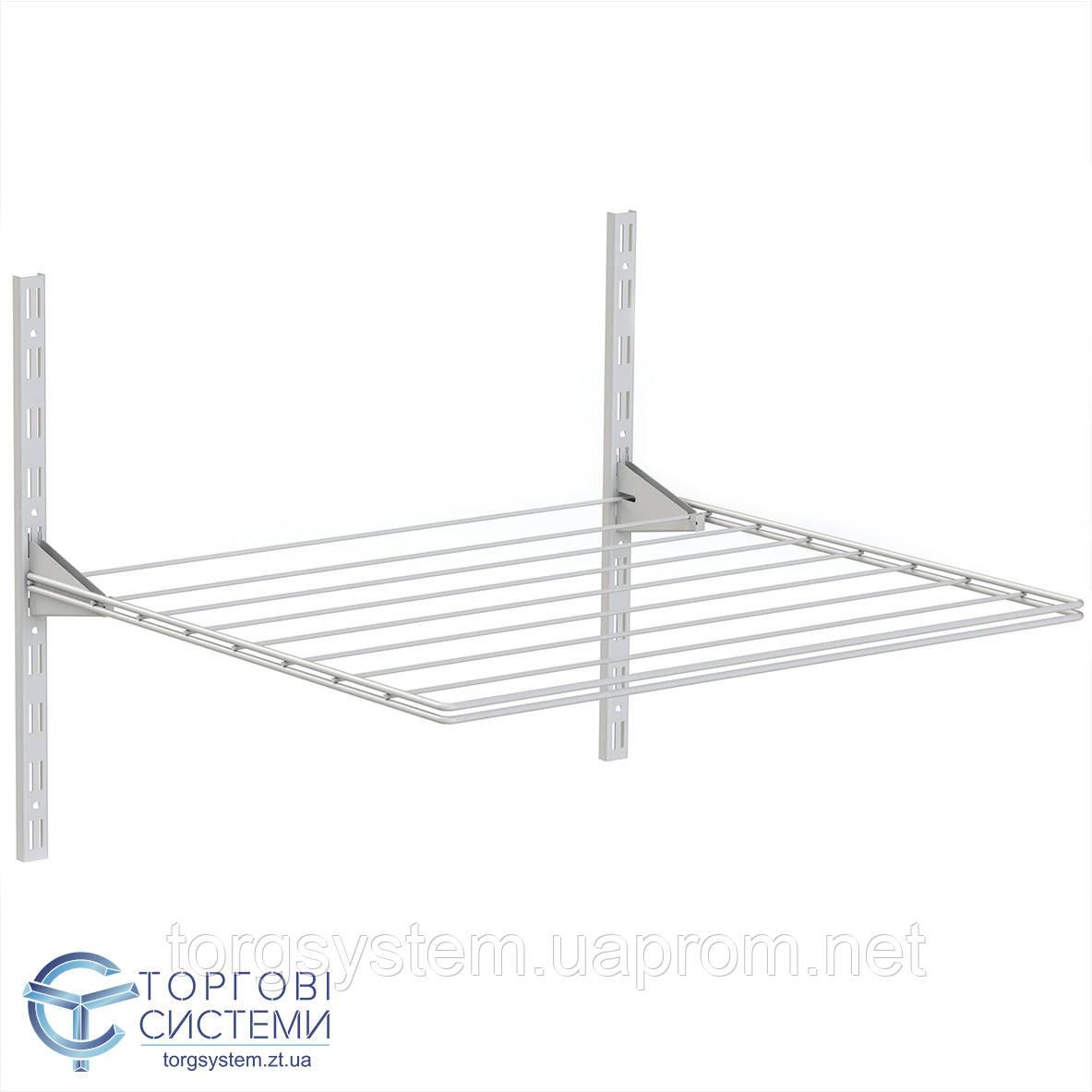 Сушка для белья металлическая в гардеробной системе 600мм