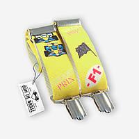 Подтяжки Bow Tie House детские желтые с гоночными машинками 05509