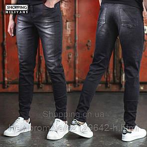 Джинсы джоггеры мужские черные Jogger Fit Black Jeans