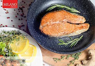 Сковорода BOLLIRE MILANO 24см, фото 2