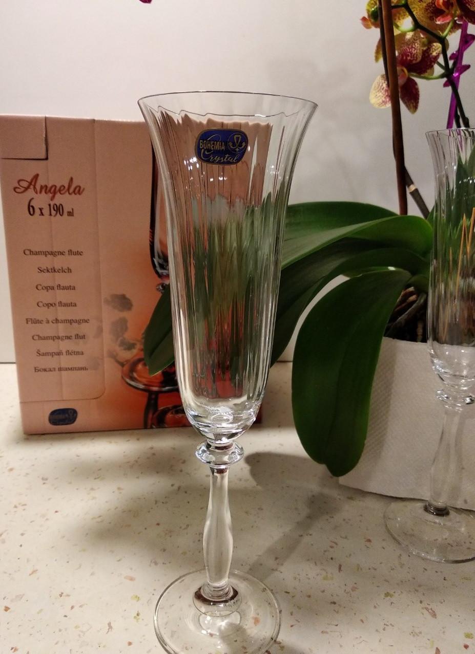 Angela Optic Набор бокалов для шампанского 190 мл - 6 шт Bohemia 40600/190/1ML