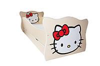 Кровать с ящиком Viorina-Deko Animal 1 Китти Белый с красным 70×140