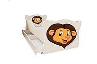 Кровать с ящиком Viorina-Deko Animal 2 Лев Бежевый с коричневым 70×140