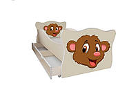 Кровать с ящиком Viorina-Deko Animal 3 Медвежонок Коричневый 70×140