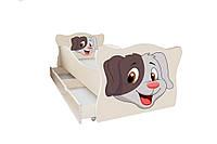 Кровать с ящиком Viorina-Deko Animal 5 Собачка Кофейный 70×140