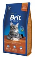 Brit Premium Cat Indoor  8кg для домашних кошек