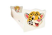 Кровать с ящиком Viorina-Deko Animal 7 Гепард Оранжевый / Ваниль 70×140