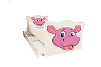 Кровать с ящиком Viorina-Deko Animal 8 Бегемотик Розовый с бежевым 70×140