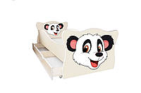 Кровать с ящиком Viorina-Deko Animal 9 Панда Белый 70×140