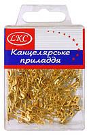 Булавки английские - набор 100 штук, золотые