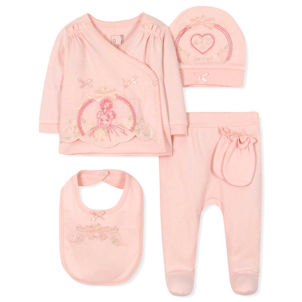 Комплект 5 в 1 для новорожденной девочки Caramell