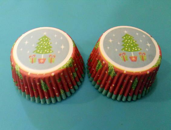 Тарталетки (капсулы) бумажные для кексов, капкейков Новогодние 500 шт, фото 2