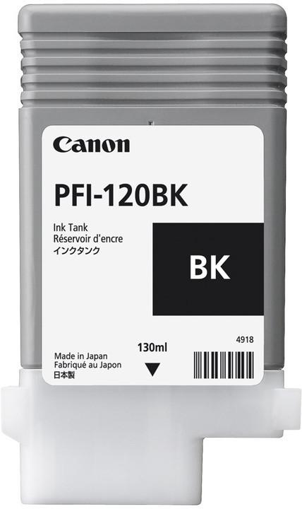 КАРТРИДЖ CANON PFI-120BK ДЛЯ TM200/300, BLACK, 130 мл (2885C001)