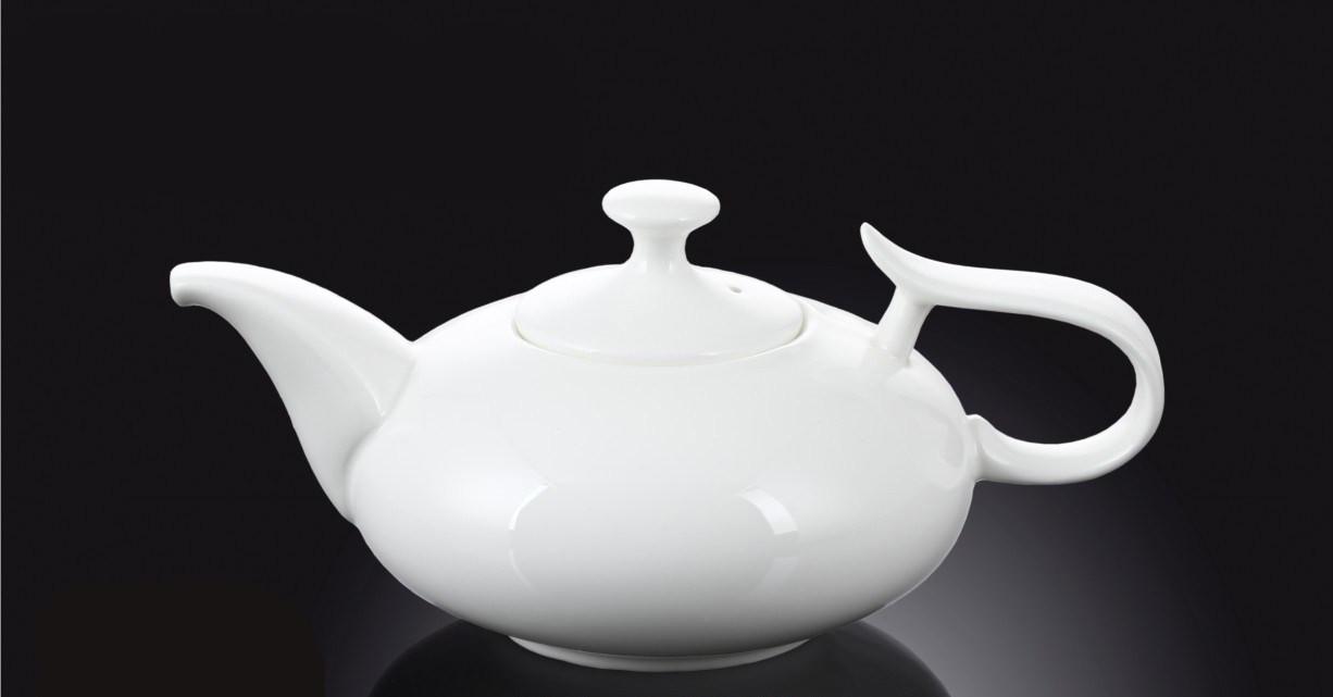 Чайник заварочный 450мл белый фарфор Wilmax
