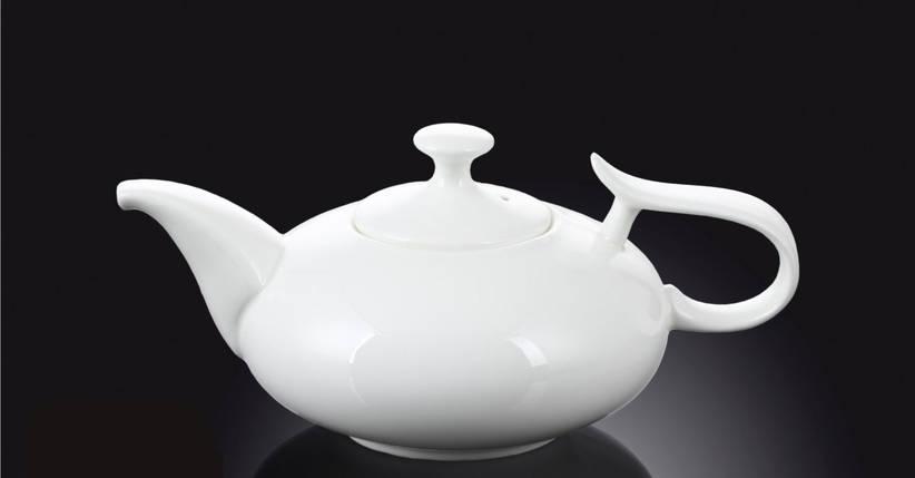 Чайник заварочный 450мл белый фарфор Wilmax, фото 2