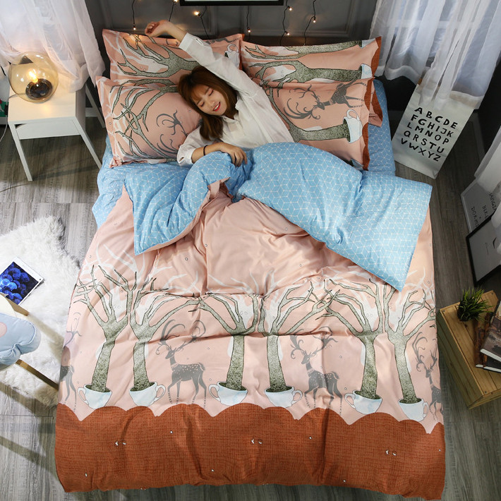 Комплект постельного белья Олений лес (двуспальный-евро) Berni