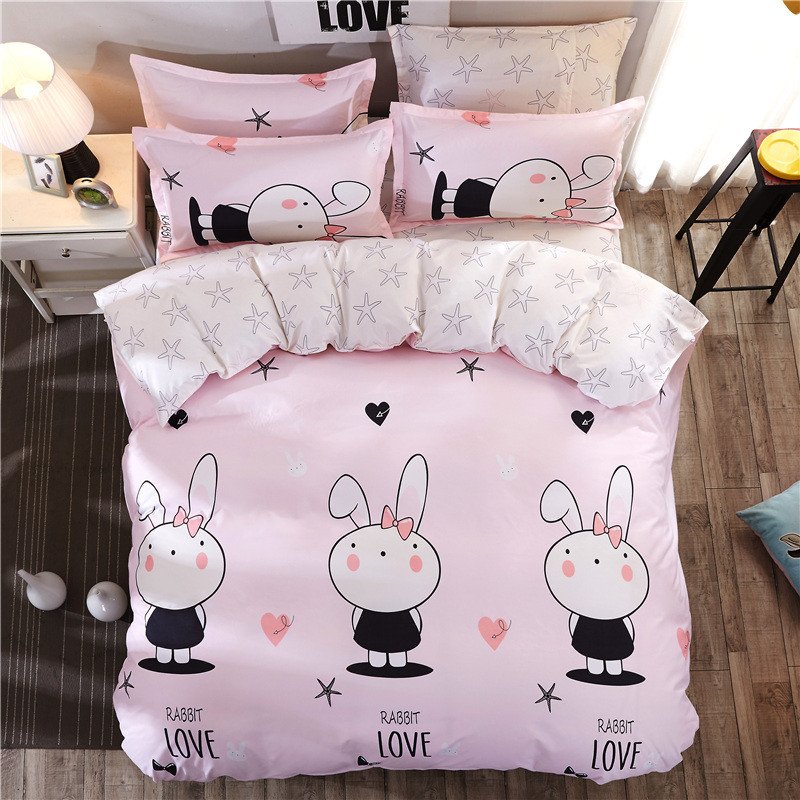 Комплект постельного белья Любовь кролика (двуспальный-евро) Berni