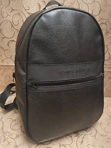 Высококачественный рюкзак кожи TOMMY HILFIGER модный стиль для мужчин и женщин городской Только оптом