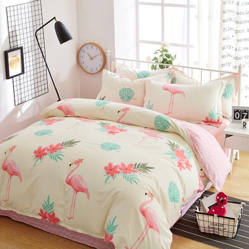 Комплект постельного белья Большие фламинго (двуспальный-евро) Berni