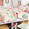 Комплект постельного белья Большие фламинго (двуспальный-евро) Berni, фото 4