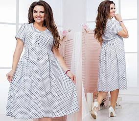 Женское летнее платье из штапеля фиолетовое 8190 46-48