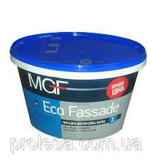 Краска фасадная дисперсионная белая матовая MGF Eco Fassade M-690 для наружных и внутренних работ (7кг)