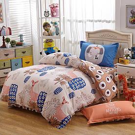 Комплект постельного белья Розовый олень (двуспальный-евро) Berni