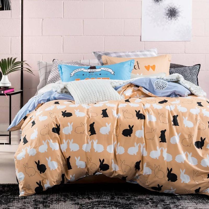 Комплект постельного белья Кролики (двуспальный-евро) Berni