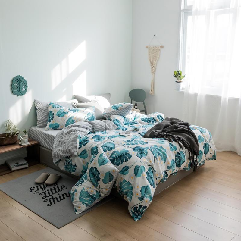 Комплект постельного белья Цветущая монстера (двуспальный-евро) Berni