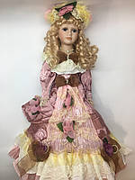 Кукла сувенирная, фарфоровая, коллекционная 50 см 1303-02