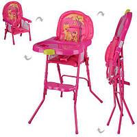 Детский стул для кормления 2 в 1  Розовый