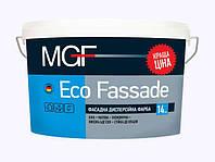 Краска фасадная дисперсионная белая матовая MGF Eco Fassade M-690 для наружных и внутренних работ (14кг)