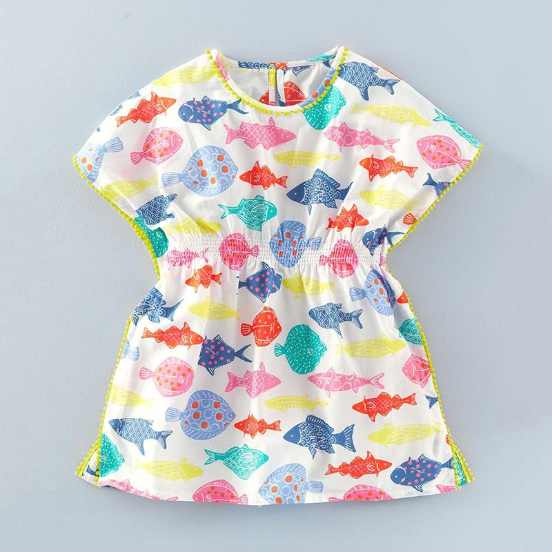 Платье для девочки Цветные рыбки Little Maven