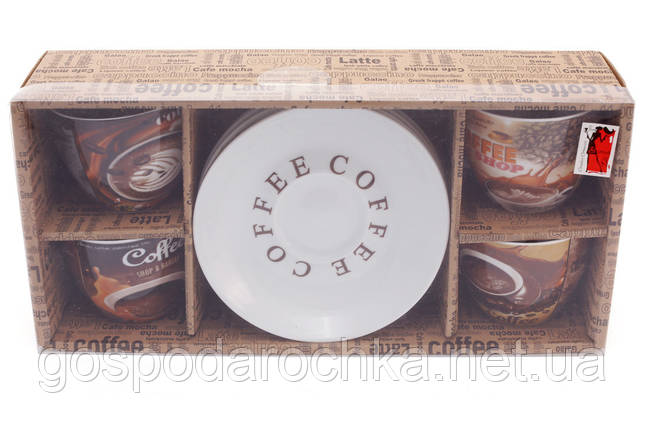 """8 пр. набор чайный """"Coffee""""225мл в подарочной коробке, фото 2"""