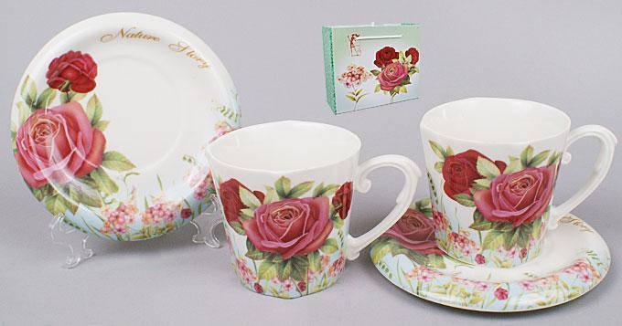 Чайный сервиз 4пр.: 2 чашки + 2 блюдца Bonadi 541-115, фото 2