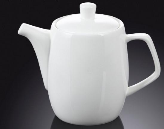 Чайник заварочный 650мл белый, костяной фарфор Wilmax