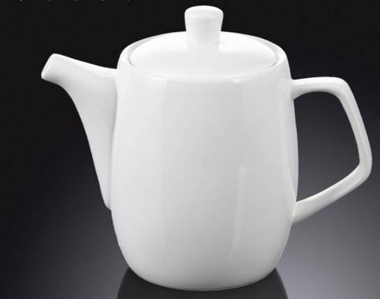 Чайник заварочный 650мл белый, костяной фарфор Wilmax, фото 2