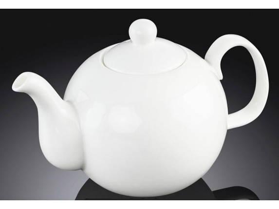 Чайник заварочный 500мл белый, костяной фарфор Wilmax, фото 2