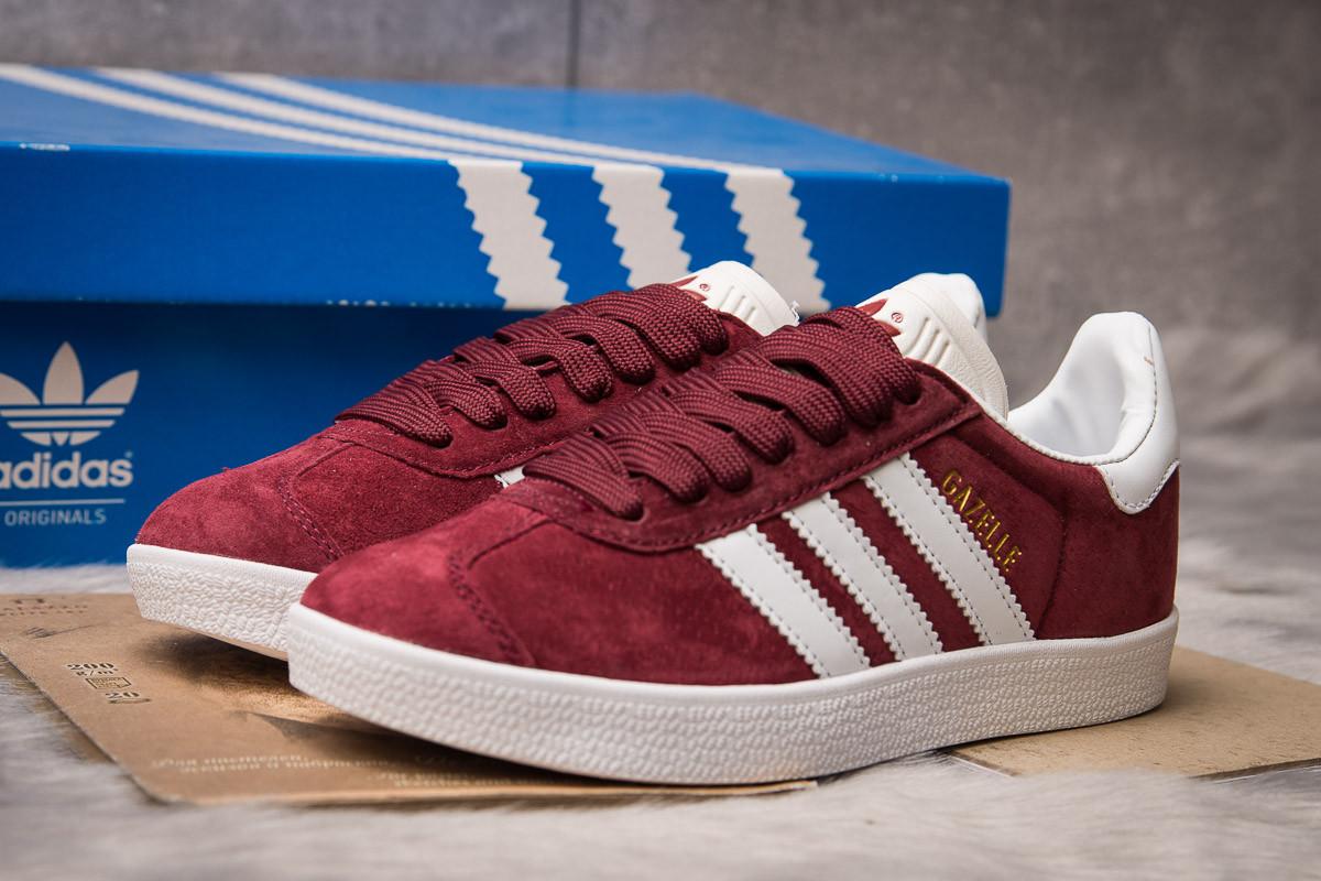 Кроссовки женские Adidas Gazelle, бордовые (15064) размеры в наличии ► [  36 37 38 39 41  ]