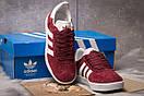 Кроссовки женские Adidas Gazelle, бордовые (15064) размеры в наличии ► [  36 37 38 39 41  ], фото 3