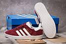 Кроссовки женские Adidas Gazelle, бордовые (15064) размеры в наличии ► [  36 37 38 39 41  ], фото 4