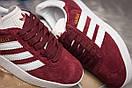 Кроссовки женские Adidas Gazelle, бордовые (15064) размеры в наличии ► [  36 37 38 39 41  ], фото 6